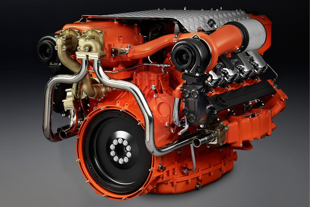 Новый 16-литровый судовой двигатель Scania V8 1000 л.с., 2012
