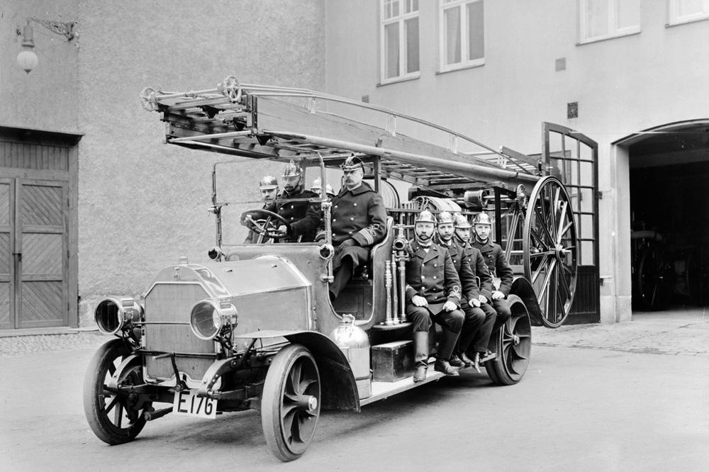 Пожарная автолестница Scania-Vabis, 1912