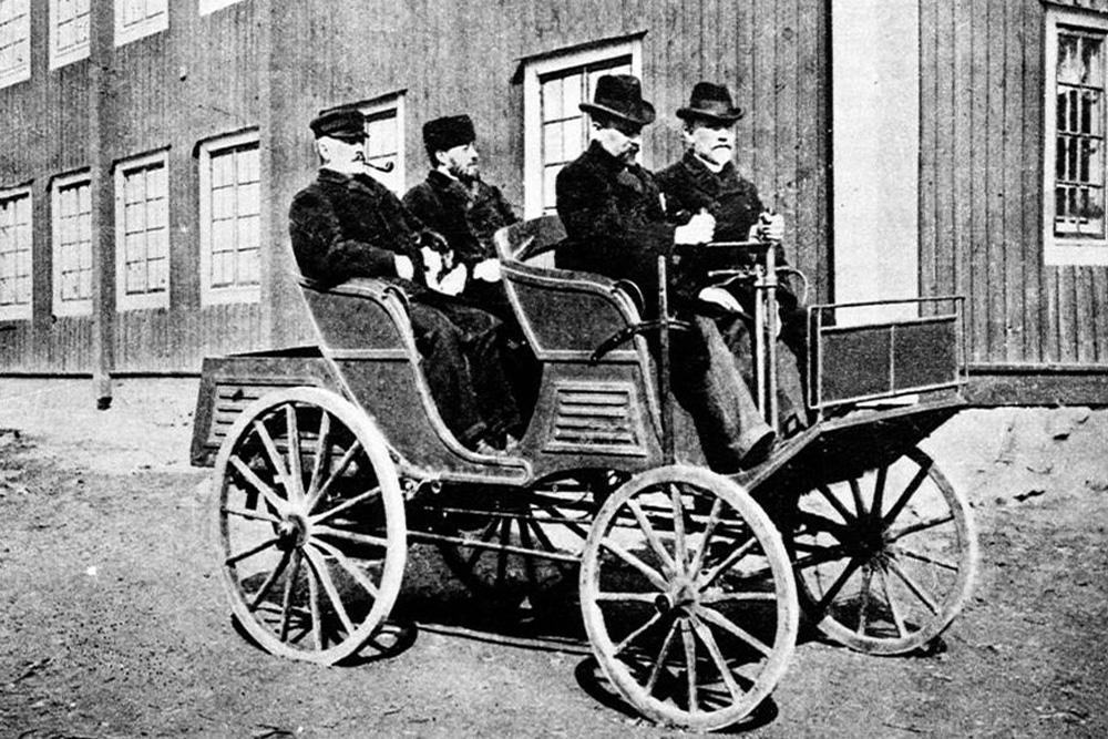 Первый шведский автомобиль Vabis A-car 6HKR, 1897