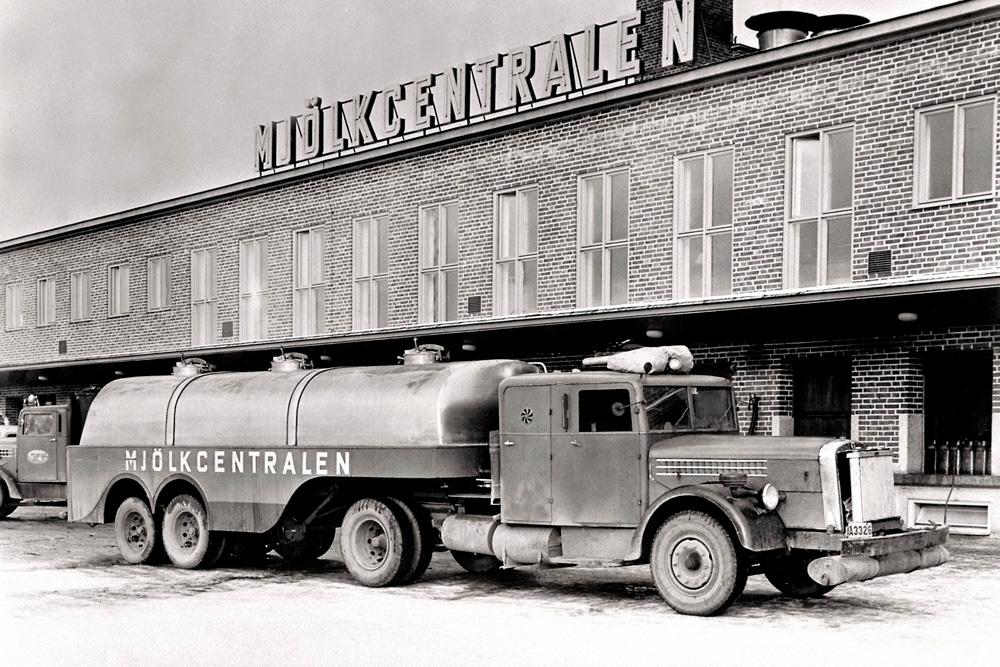 Молоковоз Scania-Vabis 335 с 8-цилиндровым 10-литровым двигателем, 1942