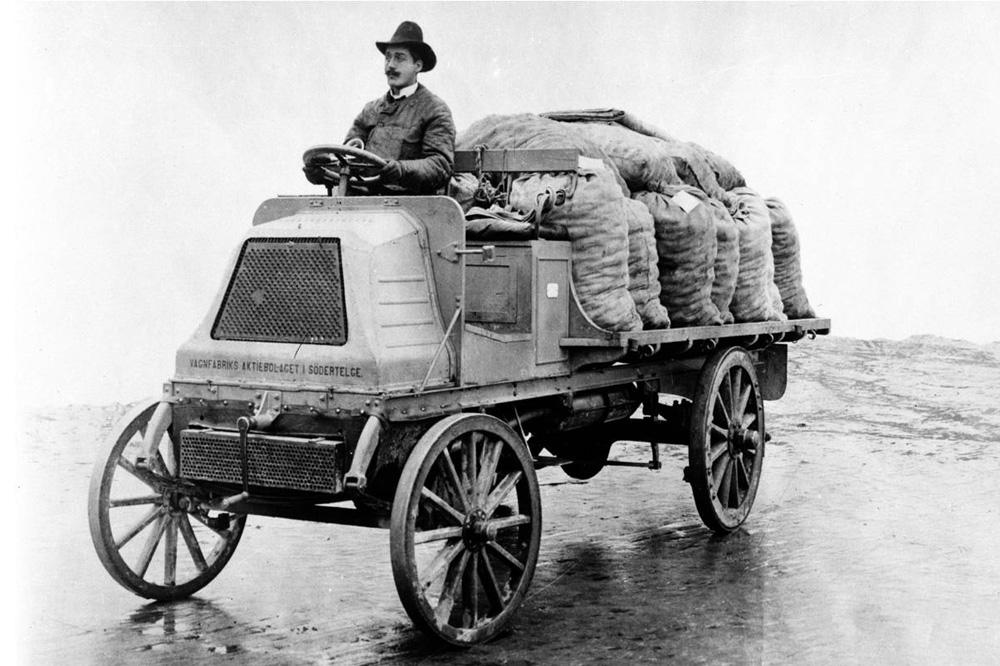 Первый грузовик Vabis 12HKR Lastbilar 1,5 тонны, 1902