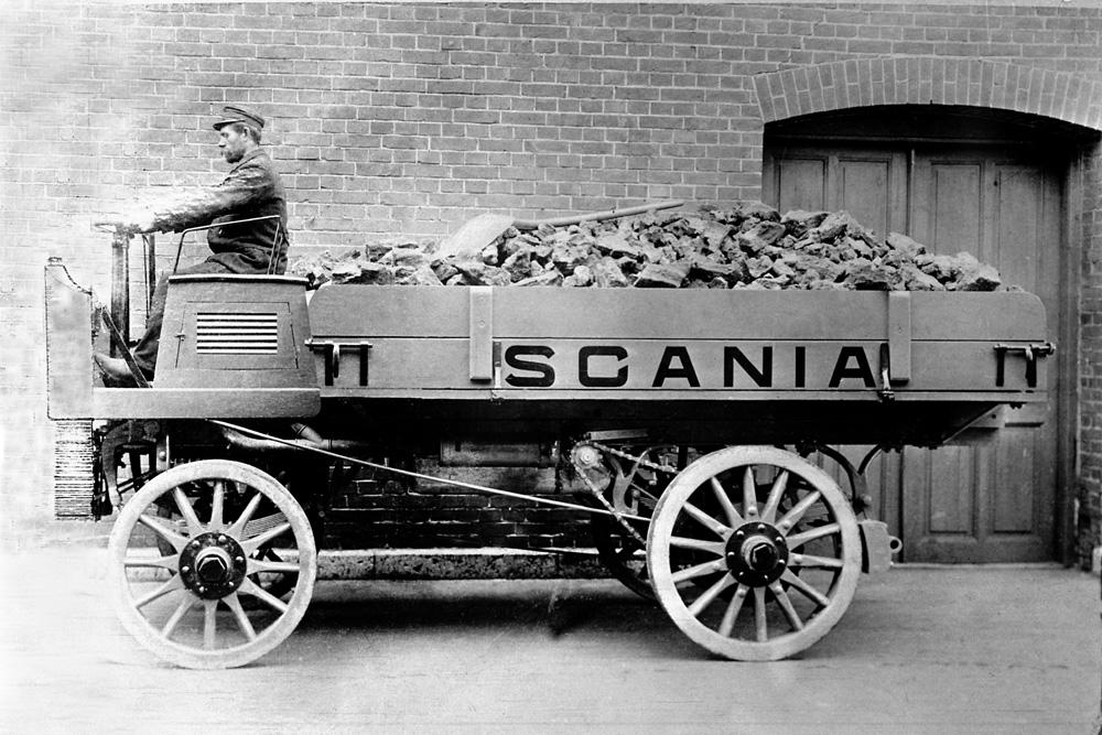 Первый грузовой автомобиль Scania, 1902