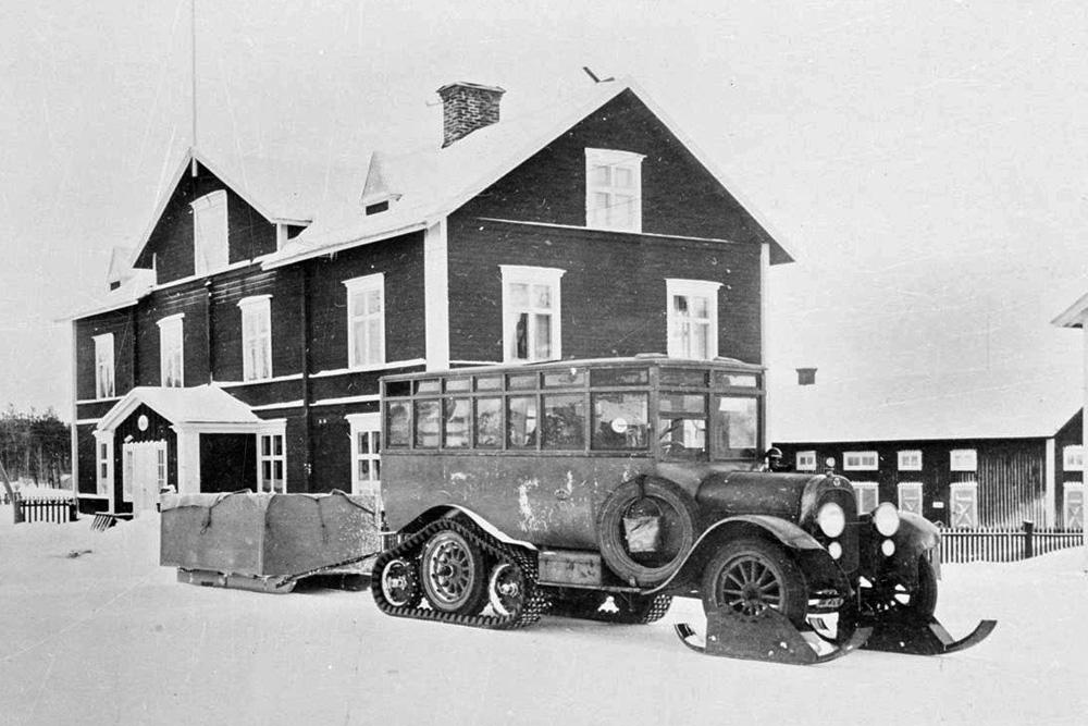 Гусеничный автобус Scania, 1923