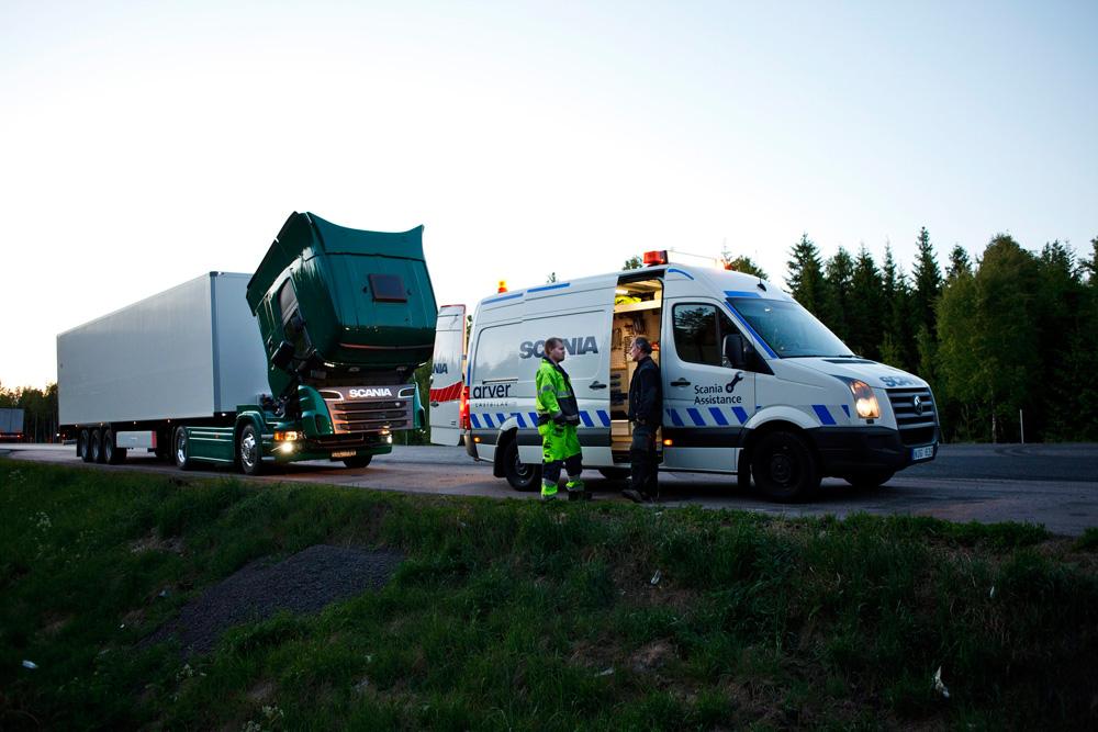 Служба круглосуточной помощи в дороге Scania Assistance, Швеция 2007