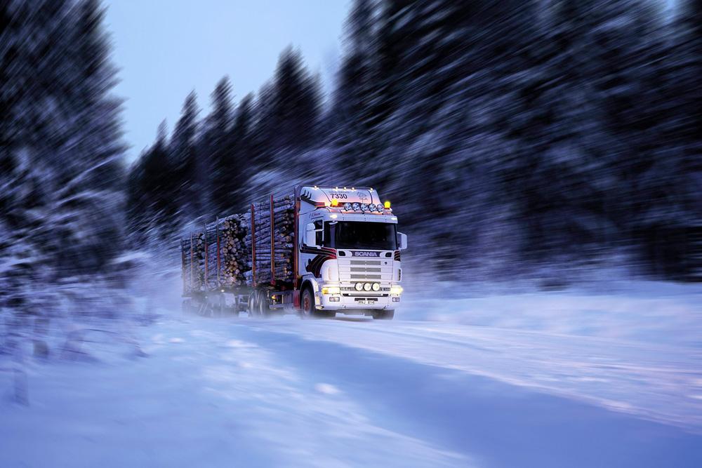 Лесовоз Scania R164 GB 6x4 580 с прицепом, 2001