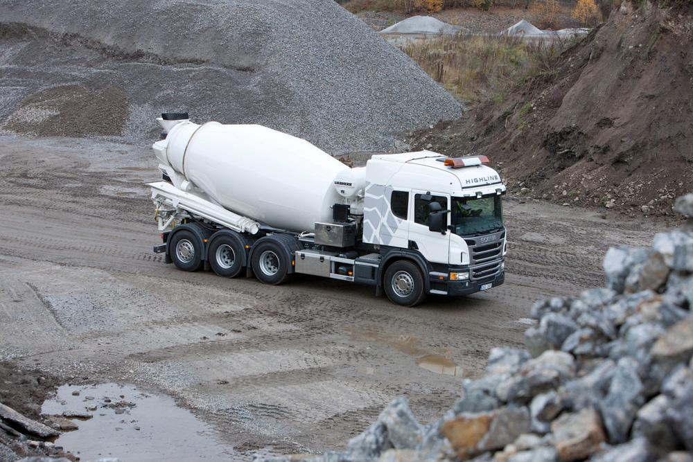 Бетономешалка Scania P 400 8x4 Highline, 2012