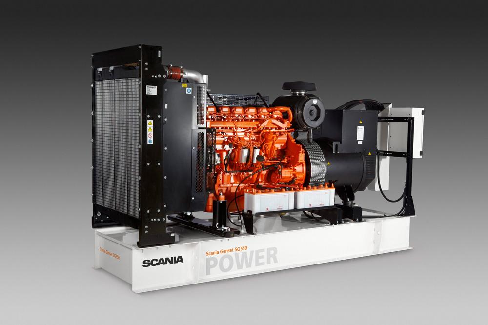 Дизельная электростанция Scania GS550 - рекордсмен по топливной экономичности