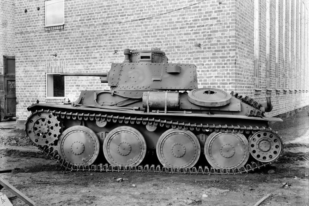 Танк Scania-Vabis (лицензия Stridsvagn) m41 S1, 1942