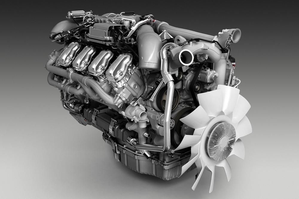 16-ти литровый двигатель Scania V8 520-580 л.с., Euro 6, 2013