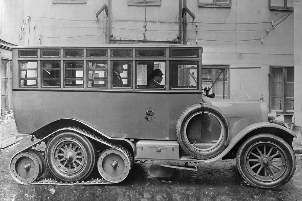 Почтовый автобус Scania-Vabis с гусеничным приводом, 1923