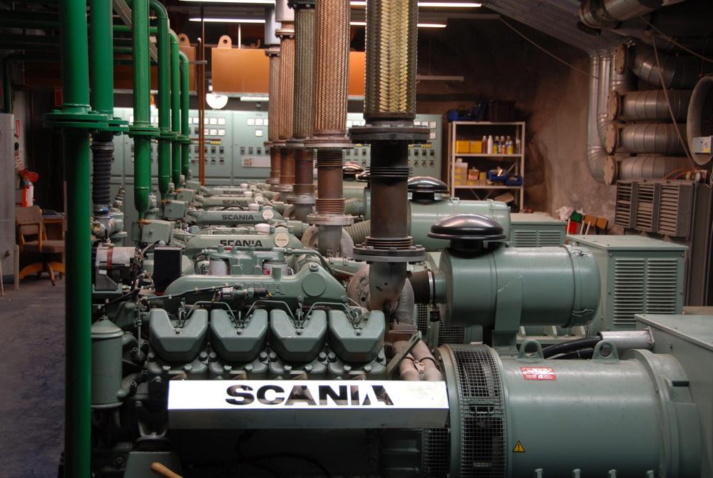 Система основного электроснабжения госпиталя из 5 дизель генераторов на промышденных двигателях Scania V8, 2007